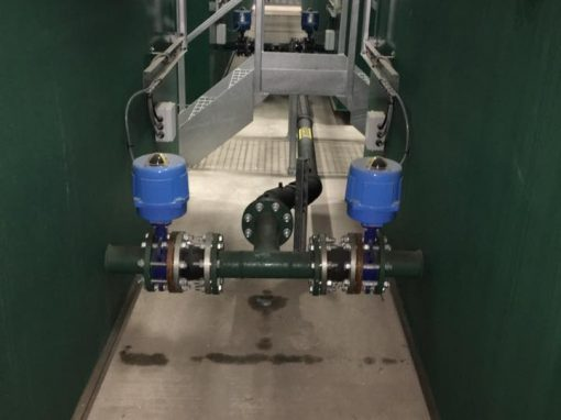 Balancing valves controls, via the fill control panel with safety step access