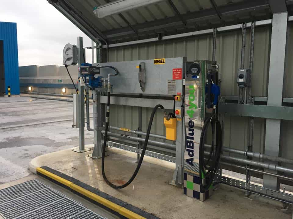 Refueling point Diesel, Adblue and Engine oilers control systems