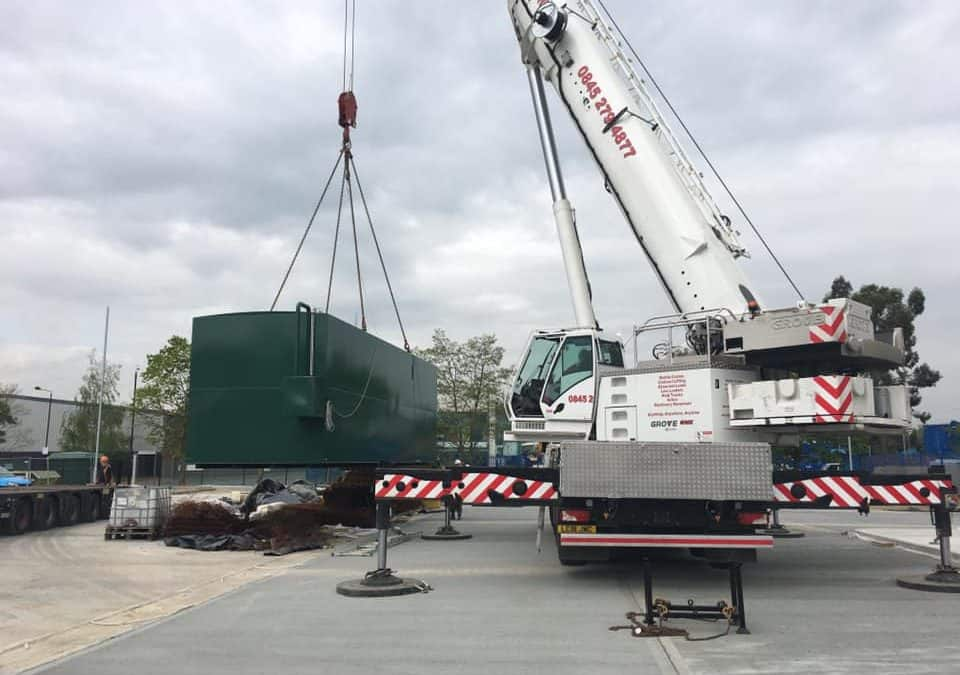 Tank Delivery for a major London site